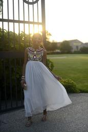 dress,boho,aztec,summer,white