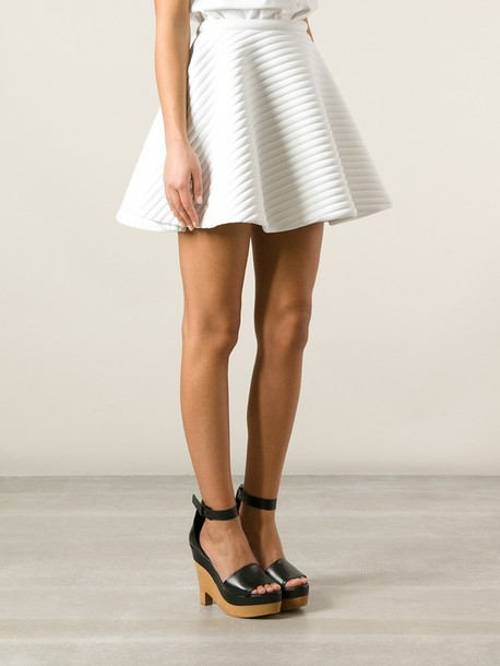 Skirt: neil barrett, a-line skirt, white skirt - Wheretoget