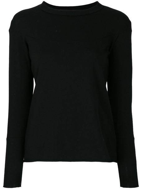 top knitted top women spandex black wool