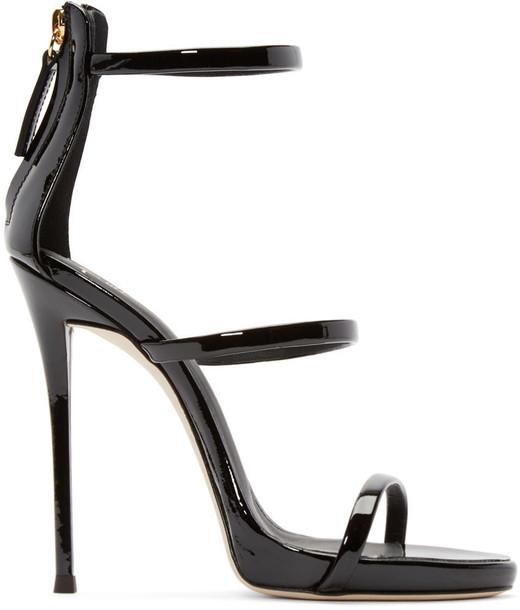 Giuseppe Zanotti sandals black shoes