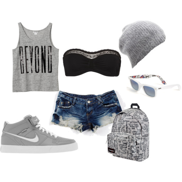 tank top beanie nike shorts bandeau sunglasses backpack shoes underwear
