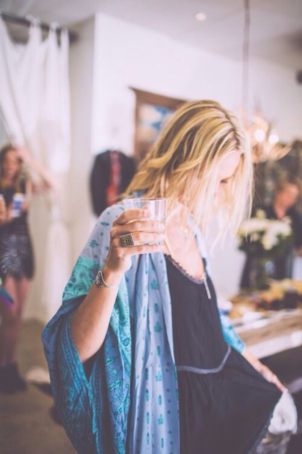 blouse kimono robe boho