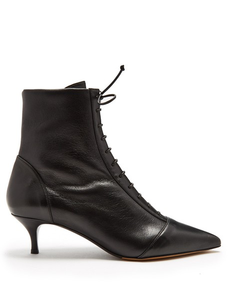 tabitha simmons ankle boots lace black shoes