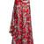 Draped-side fluted-hem satin maxi skirt