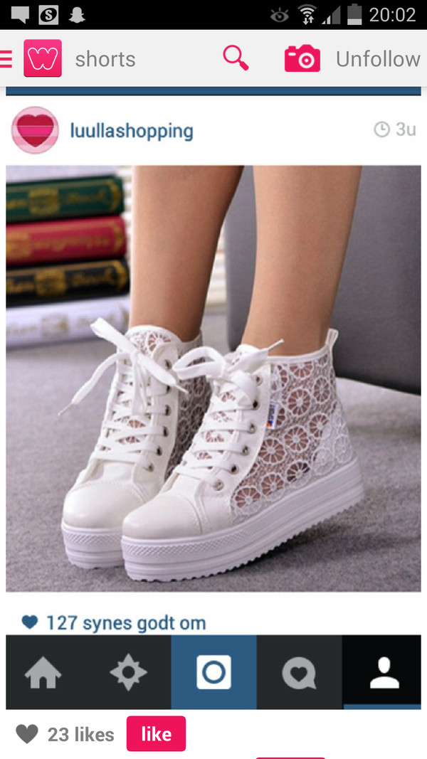 shoes white flowers sneakers lace