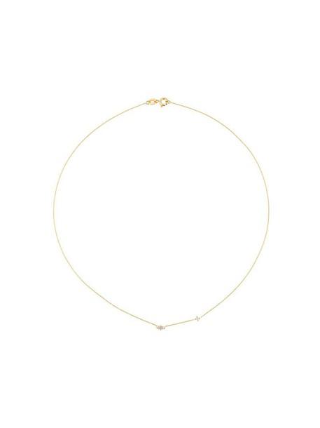 Wouters & Hendrix Gold women necklace diamond necklace gold yellow grey metallic jewels