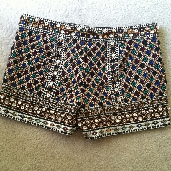Zara embellished shorts from priya's closet on poshmark