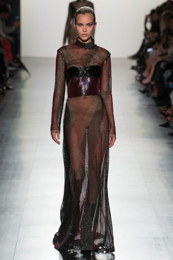 dress prabal gurung josephine skriver model runway ny