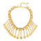 Oscar de la renta charm coin necklace - gold