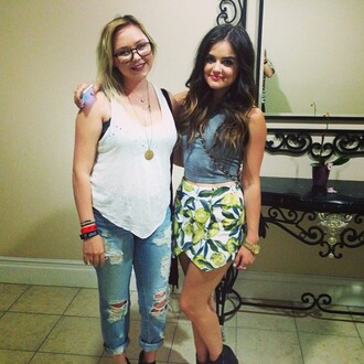 skirt lucy hale asymmetrical skirt pretty little liars
