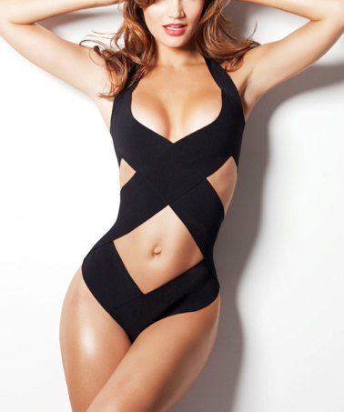 Bandage swimsuit/ bathing suit  as seen in GQ one piece by liliash