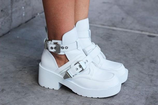 af37cb655a5 shoes boots platform shoes buckles jeffrey campbell jeffrey campbell white  white shoes white boots buckle boots