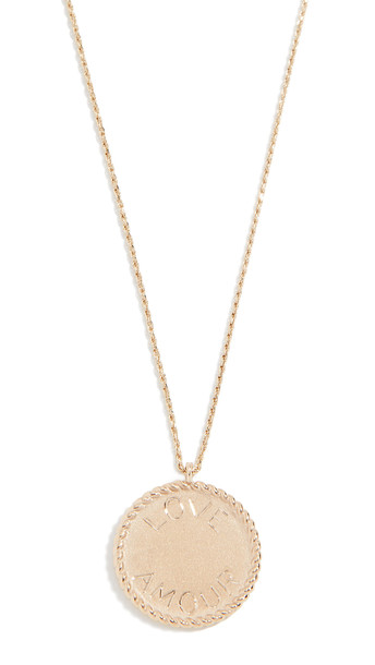 Ariel Gordon Jewelry 14k Imperial Disc Love Amour Necklace in gold / yellow
