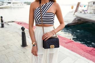 skirt white high low