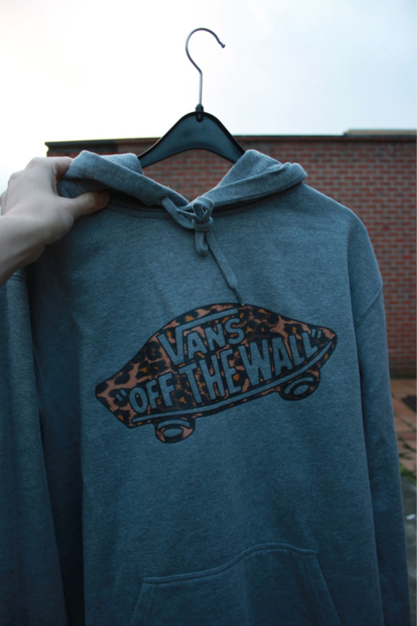 sweater hoodie cheetah is the new black leopard print vans of the wall off the wall vans off the wall hoodie