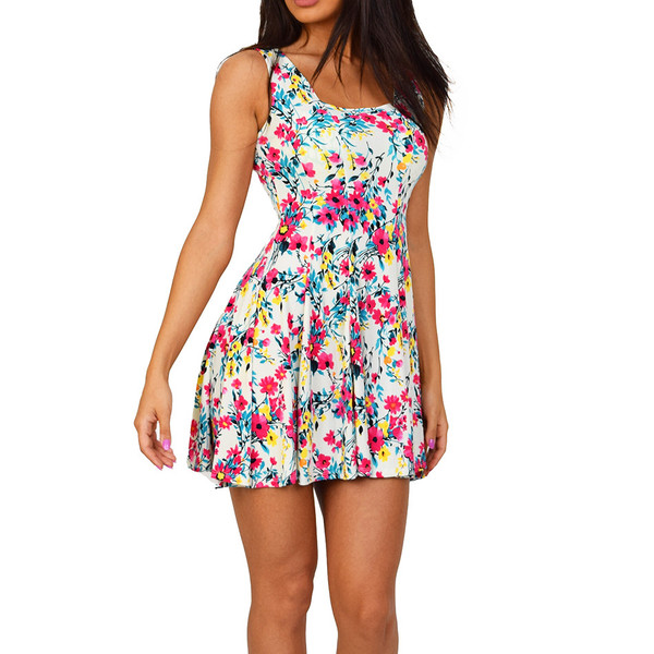 Floral fit & flare date dress