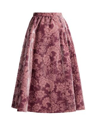 skirt midi skirt midi velvet pink