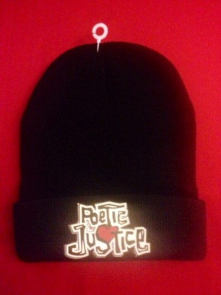90s hat poetic justice beanie black