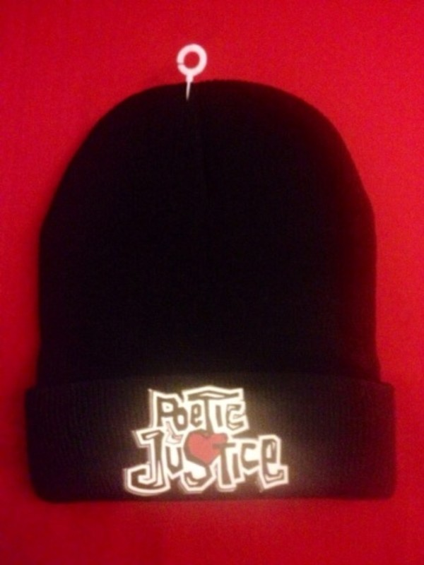 hat poetic justice beanie black 90s style