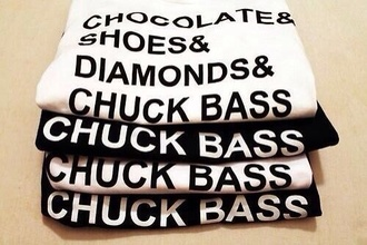 shirt chocolate chuck bass sweater diamonds