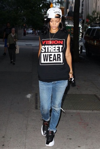 hat rihanna shirt dress jewels jeans shoes dope swag cute pretty jordans vintage clothes