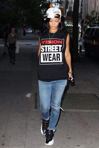 hat rihanna shirt dress jewels jeans shoes dope swag cute pretty jordans vintage clothes