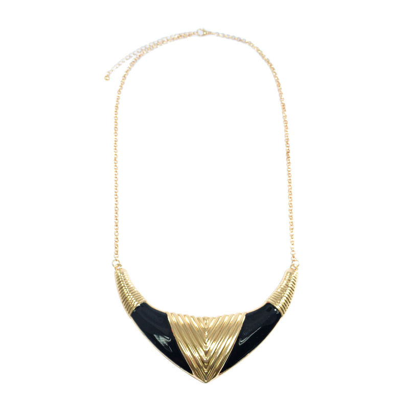 PATTERN TUSK COLLAR NECKLACE - Rings & Tings | Online fashion store | Shop the latest trends