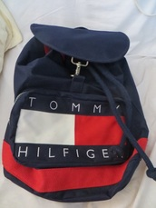 bag,tommy hilfiger,90's tommy hilfiger,blue,backpack
