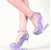 shoes,cute high heels,cute,transparent,purple,platform shoes,transparent shoes,fashion