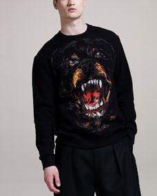 Givenchy Rottweiler-Print Jersey Sweatshirt - Bergdorf Goodman