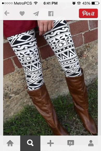 leggings white black black and white tights pattern pattern leggings