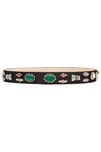 embellished belt suede multicolor