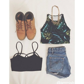 t-shirt shoes blouse