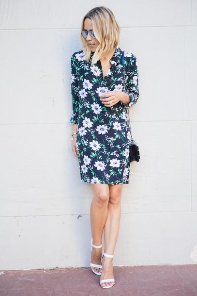 damsel in dior blogger shoes jewels bag shift dress