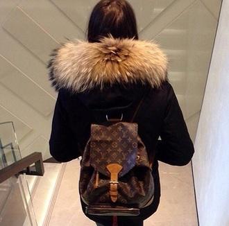 home accessory louis vuitton style girl fur book bags fashion