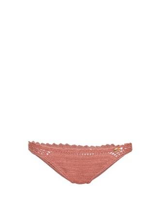 bikini crochet bikini cheeky crochet dark pink swimwear