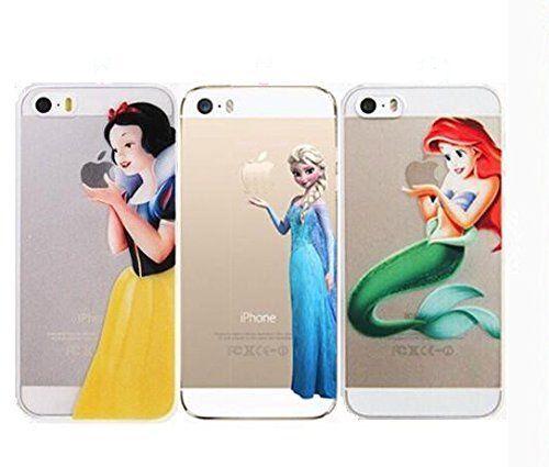 Apple iPhone 5 5S Case Disney Princess Snow White Frozen Cinderella Elsa Cover
