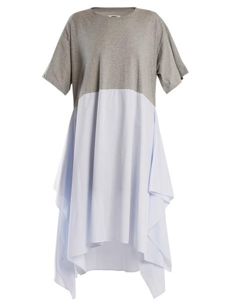 Mm6 Maison Margiela dress jersey dress cotton grey