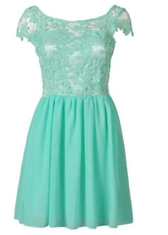 dress mint mint green lace dress lace top dress skater dress pleated skirt dress floral crochet lace cap sleeve dress www.ustrendy.com