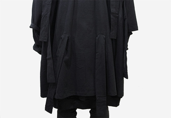coat blvck blvck dark street goth fashion