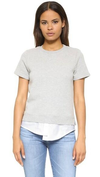 sweatshirt short grey heather grey sweater