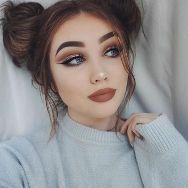 Make Up Tumblr Dark Lipstick Eye Makeup Eyeliner Eyebrows