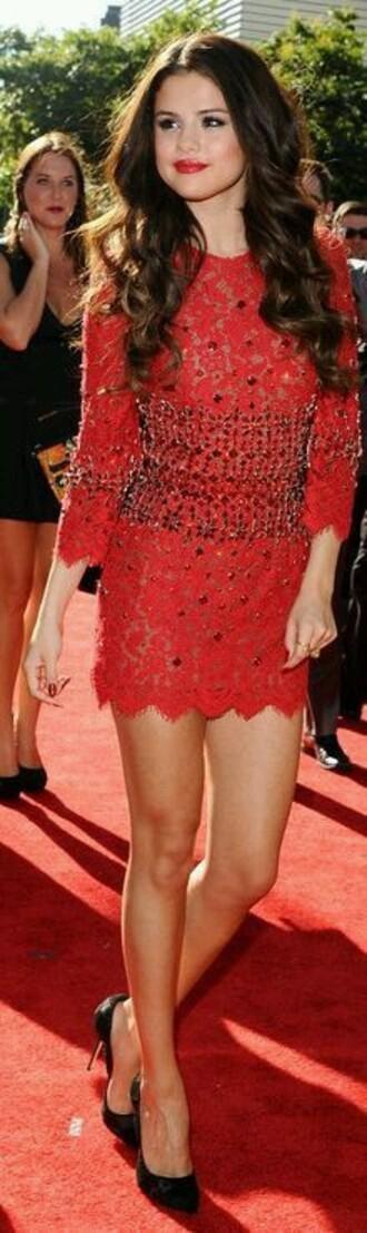 dress selena gomez red dress sequin dress