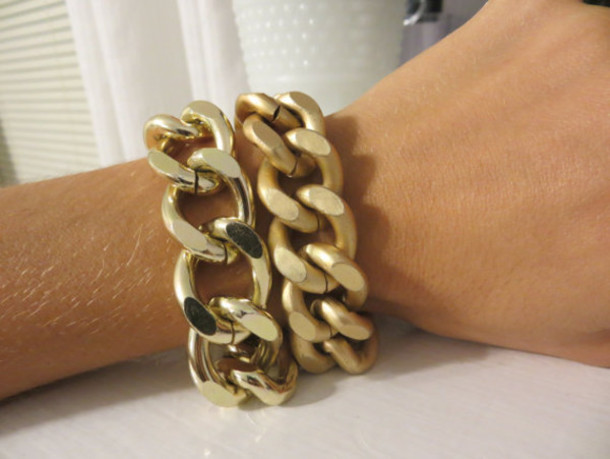 jewels matte gold chain bracelet etsy jewelry fashion