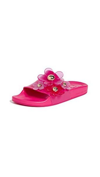 Marc Jacobs daisy aqua shoes