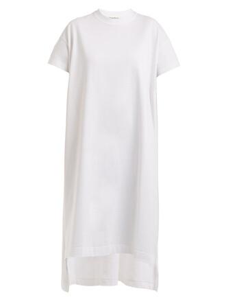 dress shirt dress t-shirt dress cotton white