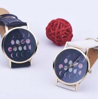 jewels watch galaxy print moon trendy fashion navy style cool beautifulhalo