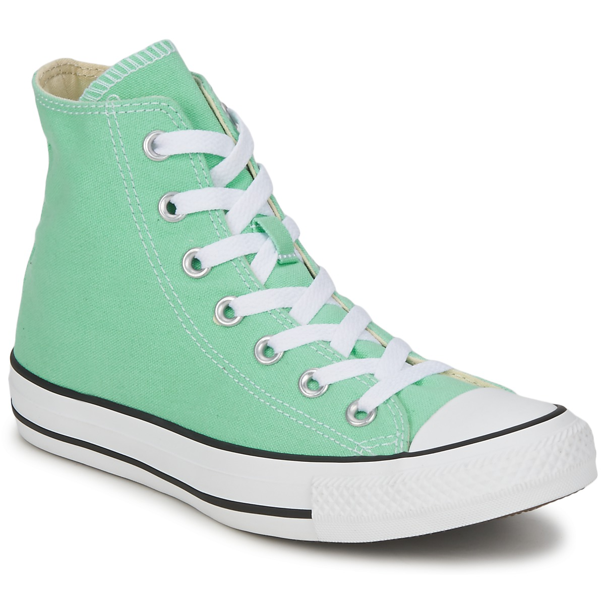 Hi top trainers Converse ALL STAR SEASON HI Green / Mint - Free next day delivery with Spartoo ...