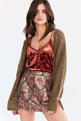 skirt sweater sara sampaio model cardigan velvet top jacquard date outfit