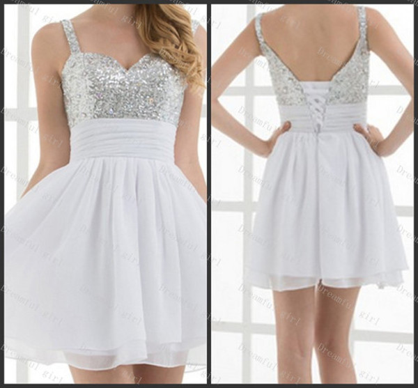 dress prom dress prom dress white dress with a sparkled top